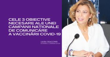 Laura Dragomir - campania de comunicare vaccinare Covid-19